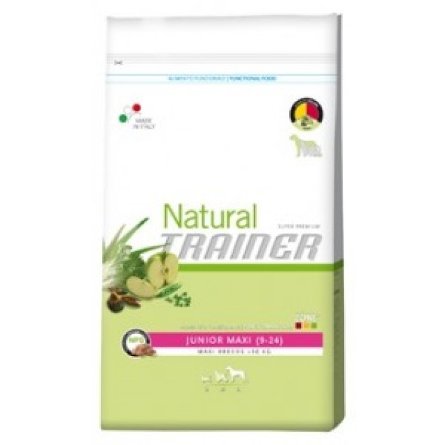 Natural trainer junior maxi, alimento natural para perros.