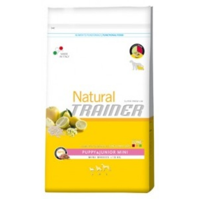 Natural Trainer puppy junior mini, alimento natural para perros